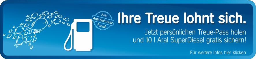 Treue-Pass sichern und 10 l Diesel gratis sichern!
