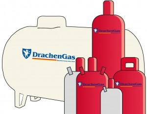 Drachengas Flaschen