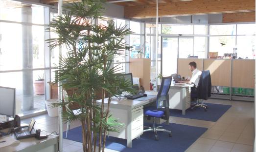 Der neue Firmensitz von HEINRITZI Wärme & Energie - Innenaufnahme von 2016.