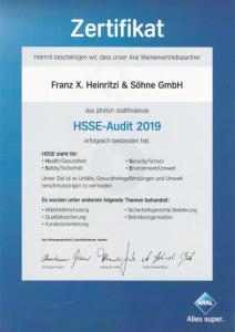 HSSE Audit 2019