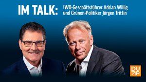 Adrian Willig und Jürgen Trittin im Talk. Bildquelle: DUP